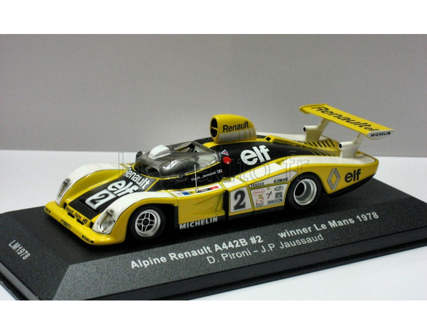 alpine renault a442b 2 vainqueur le mans 1978 ixo. Black Bedroom Furniture Sets. Home Design Ideas